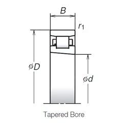 50 mm x 80 mm x 16 mm  NSK N1010MRKR Back-to-back duplex arrangement Bearings