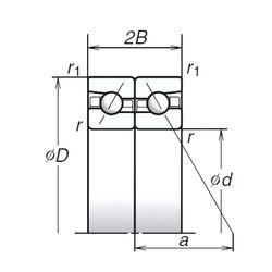 180 mm x 280 mm x 45 mm  NSK 180BAR10S Back-to-back duplex arrangement Bearings