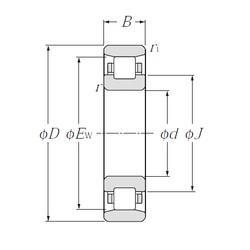 100 mm x 150 mm x 24 mm  NTN N1020 Eco-friendly air-oil lubricated angular contact ball bearings