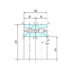 100 mm x 150 mm x 22,5 mm  NACHI 100TBH10DB Easy Handling Precision Bearings