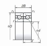 NTN 5S-7920U Back-to-back duplex arrangement Bearings