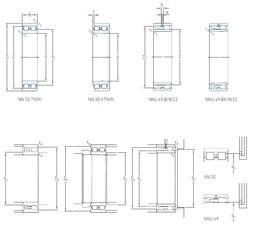 105 mm x 145 mm x 40 mm  SKF NNU 4921 BK/SPW33 Easy Handling Precision Bearings