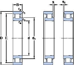 85 mm x 130 mm x 22 mm  SKF N 1017 KTNHA/SP Back-to-back duplex arrangement Bearings