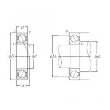 10 mm x 26 mm x 8 mm  NTN BNT000 Double-Row Angular Contact Ball Bearings