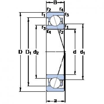 35 mm x 55 mm x 10 mm  SKF 71907 ACE/P4A Duplex angular contact ball bearings HT series