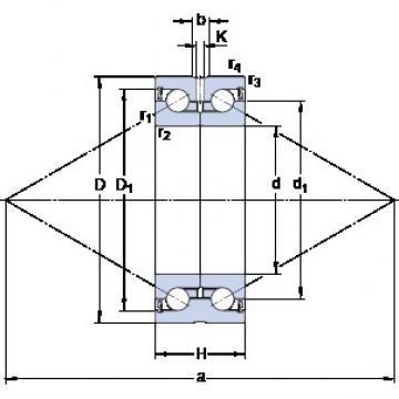 SKF BEAS 025057-2RS Angular contact thrust ball bearings 2A-BST series