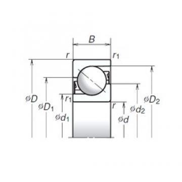 45 mm x 100 mm x 25 mm  NSK 45TAC03AT85 Easy Handling Precision Bearings