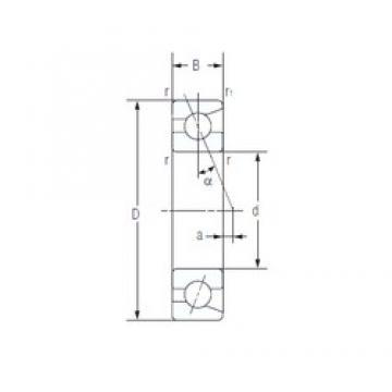 25 mm x 52 mm x 15 mm  NACHI 7205C Eco-friendly super high-speed angular contact ball bearings