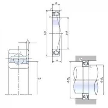 100 mm x 150 mm x 24 mm  NSK 100BNR10H Double-Row Angular Contact Ball Bearings