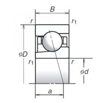 20 mm x 47 mm x 14 mm  NSK 20BGR02H Duplex angular contact ball bearings HT series