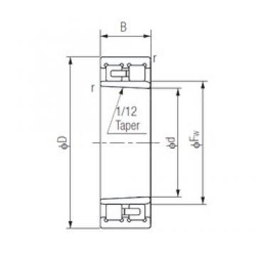170 mm x 230 mm x 60 mm  NACHI NNU4934K Back-to-back duplex arrangement Bearings
