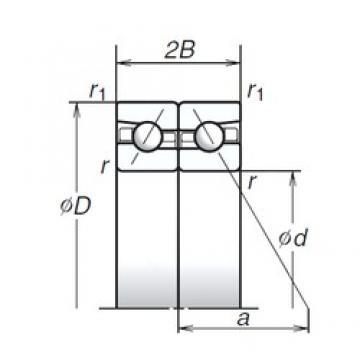 55 mm x 90 mm x 16,5 mm  NSK 55BAR10S Four-Point Contact Ball Bearings