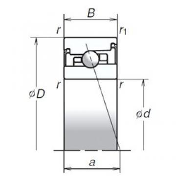 65 mm x 100 mm x 22 mm  NSK 65BER20SV1V Eco-friendly air-oil lubricated angular contact ball bearings