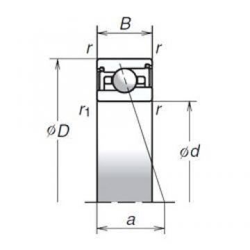 30 mm x 47 mm x 11 mm  NSK 30BER29SV1V Eco-friendly air-oil lubricated angular contact ball bearings
