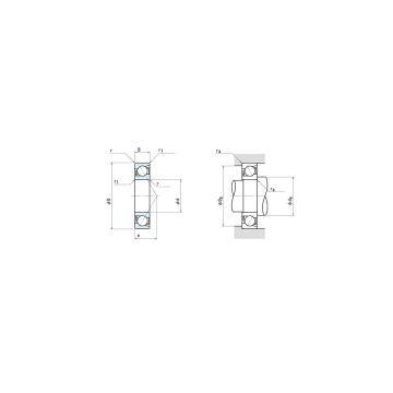 NSK 7924C Back-to-back duplex arrangement Bearings
