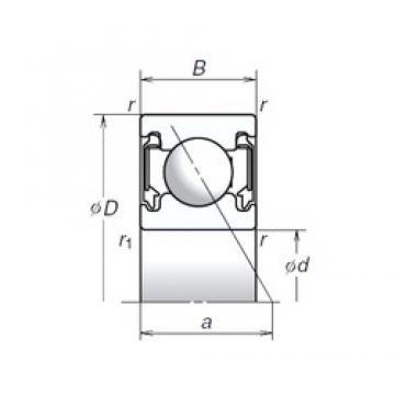 10 mm x 26 mm x 8 mm  NSK 10BSA10T1X Eco-friendly high-speed angular contact ball bearings
