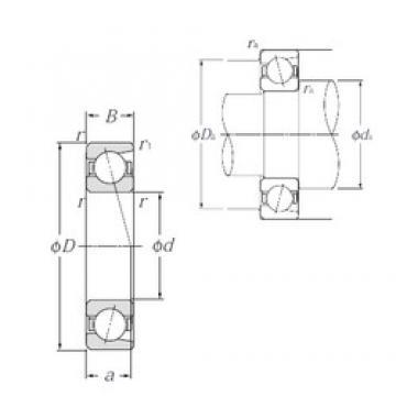 50 mm x 65 mm x 7 mm  NTN 7810C Eco-friendly air-oil lubricated angular contact ball bearings