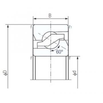 55 mm x 100 mm x 20 mm  NACHI 55TAB10 Easy Handling Precision Bearings