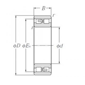 30 mm x 55 mm x 19 mm  NTN NN3006 Four-Point Contact Ball Bearings