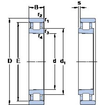 70 mm x 110 mm x 20 mm  SKF N 1014 KPHA/HC5SP double direction angular contact thrust ball bearings