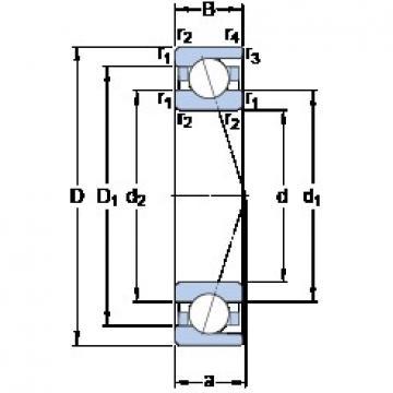320 mm x 440 mm x 56 mm  SKF 71964 ACDMA/HCP4A double direction angular contact thrust ball bearings