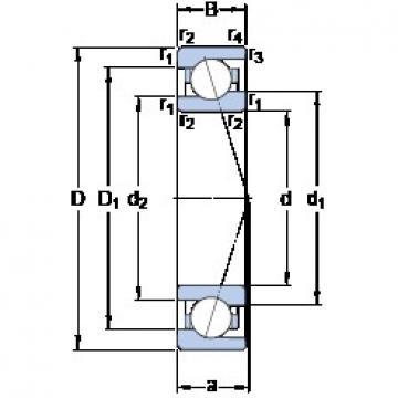 12 mm x 24 mm x 6 mm  SKF 71901 ACE/HCP4A DB/DF/DT Precision Bearings