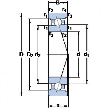 40 mm x 68 mm x 15 mm  SKF 7008 ACB/P4A Back-to-back duplex arrangement Bearings