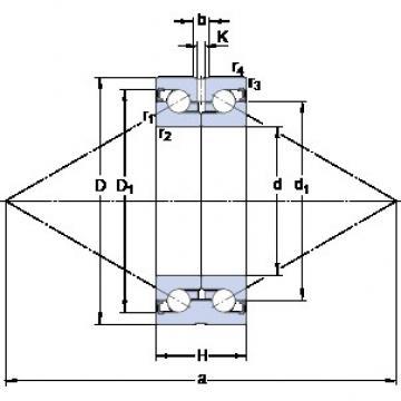 SKF BEAS 020052-2RZ double direction angular contact thrust ball bearings