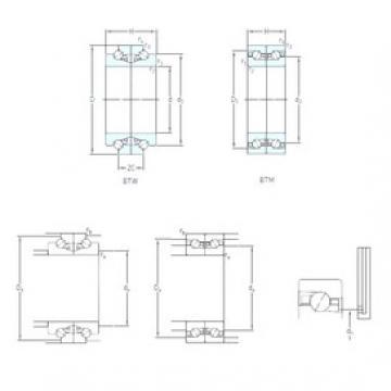 95 mm x 145 mm x 22,5 mm  SKF BTM 95 ATN9/HCP4CDB Eco-friendly air-oil lubricated angular contact ball bearings