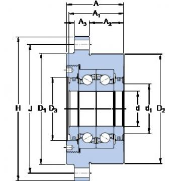 SKF FBSA 207/DF Angular contact thrust ball bearings 2A-BST series
