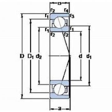 70 mm x 100 mm x 16 mm  NSK 70BER19X  Back-to-back duplex arrangement Bearings