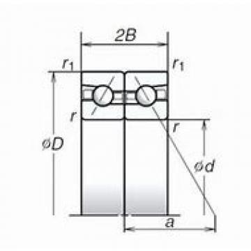 "SKF ""71907 CB/P4A	"" Back-to-back duplex arrangement Bearings"