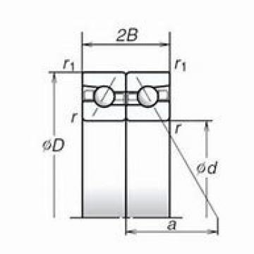 60 mm x 95 mm x 16,5 mm  NACHI 60TBH10DB DBB, DFF, DBT, DFT, DTT, Quadruplex Precision Bearings
