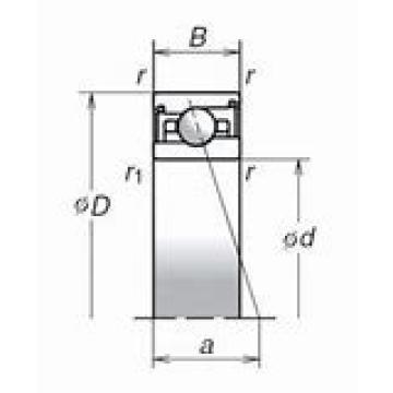 NSK 150TAC29D+L DBB, DFF, DBT, DFT, DTT, Quadruplex Precision Bearings