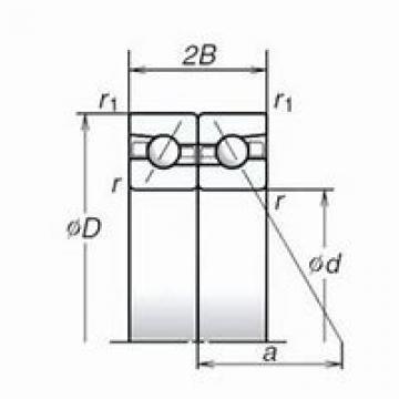 NSK 234409M.SP DBD, DFD, DTD, DUD Triplex Precision Bearings