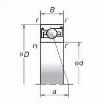 NACHI BSB 040072 DBD, DFD, DTD, DUD Triplex Precision Bearings