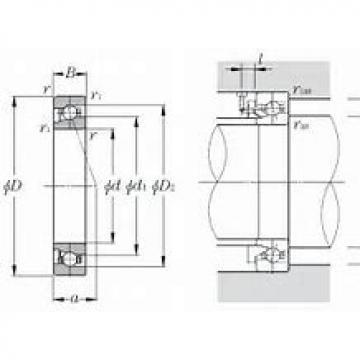 BARDEN CZSB106C Eco-friendly air-oil lubricated angular contact ball bearings