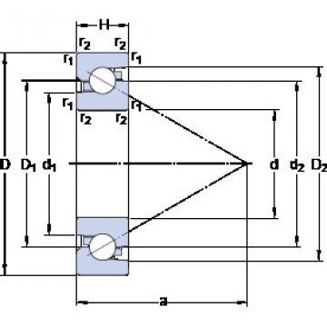 SKF BSA 206 C Double-Row Angular Contact Ball Bearings
