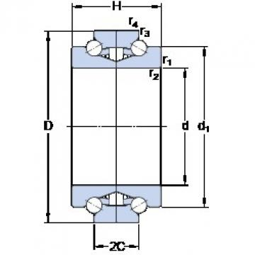 SKF BTW 130 CTN9/SP Double-Row Angular Contact Ball Bearings