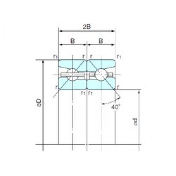 160 mm x 240 mm x 36 mm  NACHI 160TBH10DB double direction angular contact thrust ball bearings #2 image