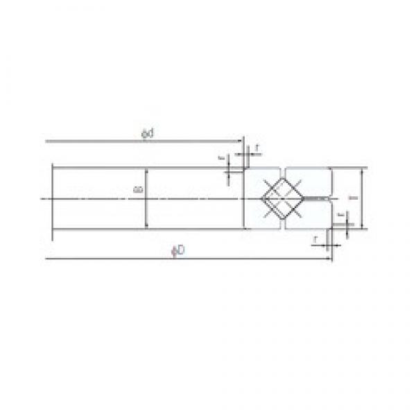 320 mm x 430 mm x 40 mm  NACHI 320XRG43 Easy Handling Precision Bearings #1 image