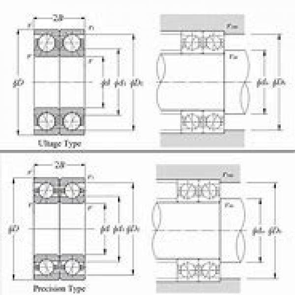 NTN 2LA-HSL917UAD Back-to-back duplex arrangement Bearings #1 image
